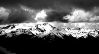 Canadian Rockies in Black and White